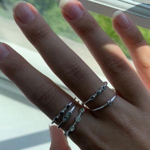 Set of Matching Silver Rings